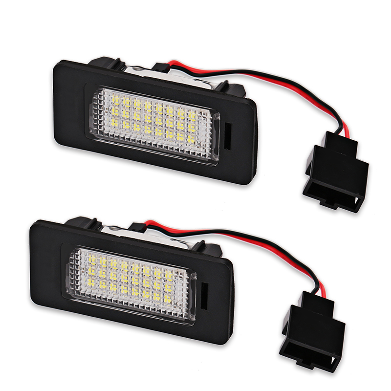 2pcs For <font><b>AUDI</b></font> Q5 LED License lamp White 12V 18SMD Error Free Car LED Number License Plate Lights lamp for <font><b>Audi</b></font> <font><b>A4</b></font> B8 A5 S5 TT S4 image
