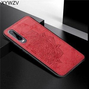 Image 5 - Para Huawei Caso P30 Textura De Pano À Prova de Choque Suave Silicone TPU Phone Case PC Duro Para O Huawei P30 Tampa Traseira Huawei p30 Fundas