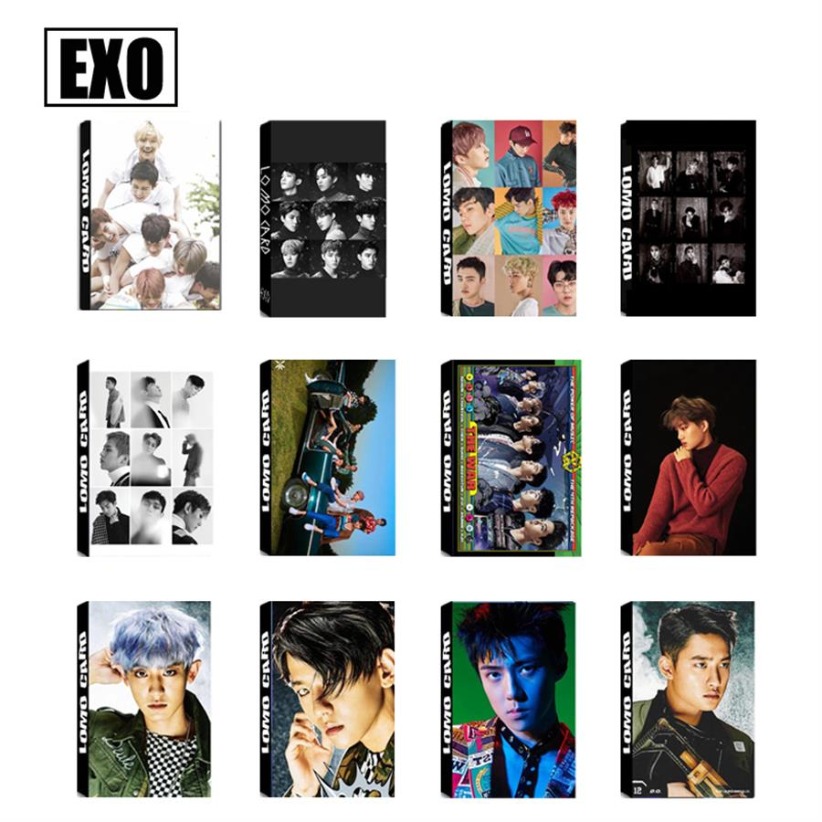Kpop EXO The War Paper Lomo Photo Cards Chanyeol Baekhyun Collective Cards HD Photocard 30pcs