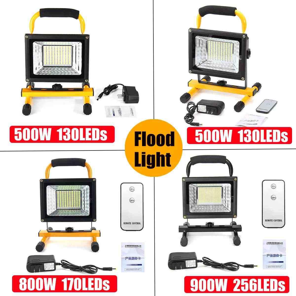 500/800/900W LED Ricaricabile Portatile Proiettore Riflettore Impermeabile Alimentato A Batteria Faro Esterno Lampada di Campeggio Della Lampada di Lavoro