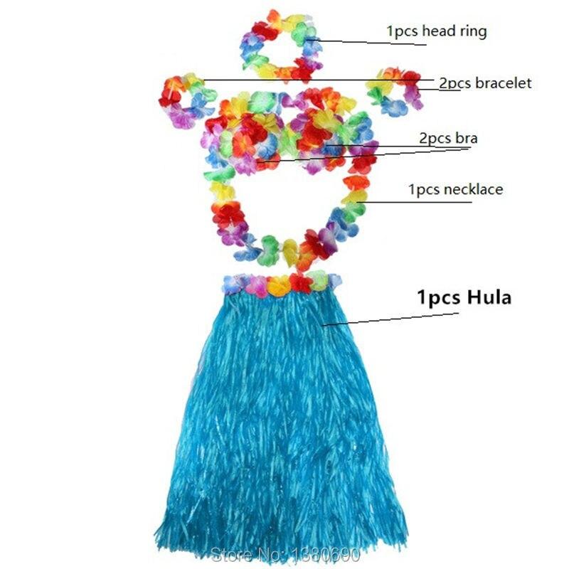 1Set 40cm Halloween Party Dress Hawaiian Hula for Kids Child Hawaii a Grass Skirt