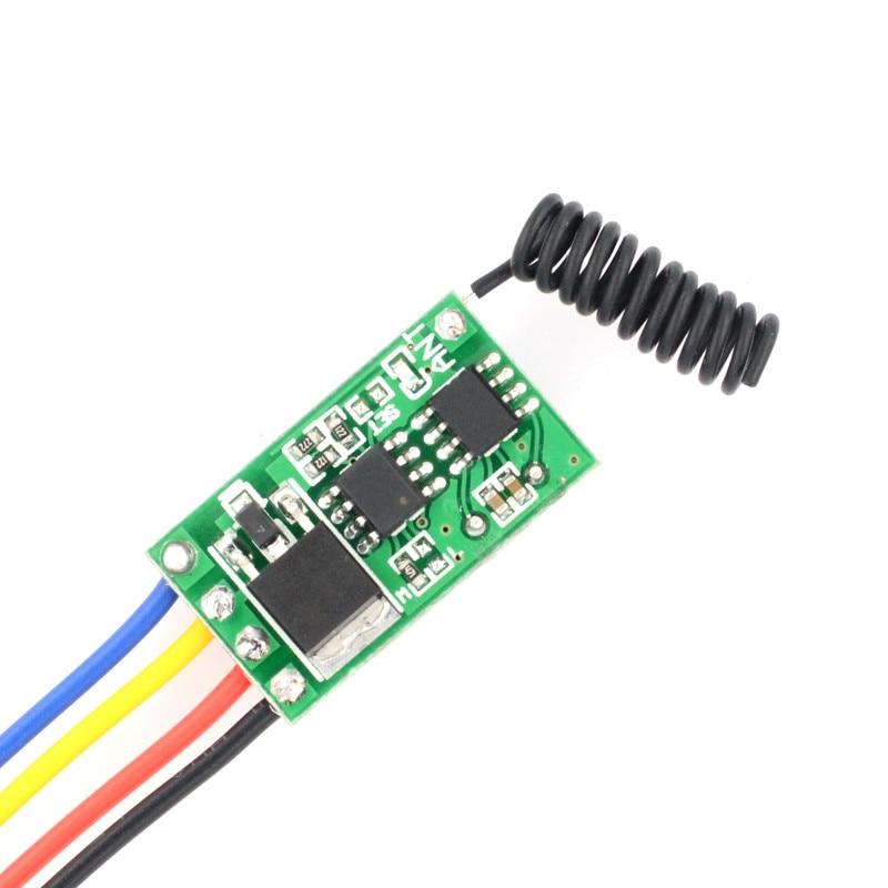 DC6V-36V ultra-thin Mos Receiver Mini RF Receiver Remote Control Switch voiceless Remote Control Switch 3A Input Output Voltage