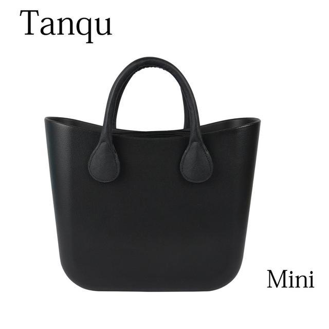 TANQU Mini EVA bag with Insert Colorful Handles EVA Silicon Rubber Waterproof  DIY women handbag