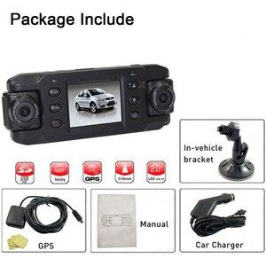 Image 5 - Podofo dvr видеорегистратор с двумя объективами Автомобильный видеорегистратор с GPS X8000 видеорегистратор видеокамера Full HD 1080P регистратор dashcam Автомобильные видеорегистраторы