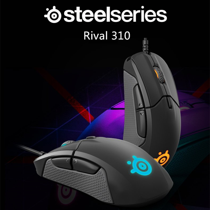 Acquisto libero SteelSeries Rivale 310 RGB FPS USB Optical Gaming Wired Mouse con 6500 CPI Split-Trigger Pulsanti PER CS LOL CF