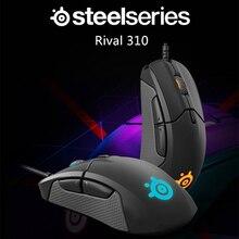 קניות חינם SteelSeries יריבה 310 RGB FPS USB משחקים אופטיים Wired עכבר עם 12000 מדד המחירים לצרכן פיצול כפתורי הדק עבור CS LOL CF