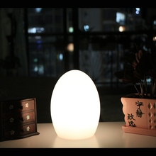 D10*H15cm Modern remote control cordless LED illuminated table lamp Waterproof PE Material free shipping dropship 1pc