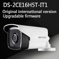 Бесплатная доставка английская версия ds-2ce16h5t-it1 Turbo HD TVI Камера 5mp очень низкой освещенности Exir пуля Камера экранное меню, 20 м ИК IP67