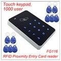 Alta segurança Fechadura Da Porta de Entrada De Proximidade RFID teclado Touch Sistema de Controle de Acesso wiegand 26 de entrada Do Usuário 1000 + 10 Chaves