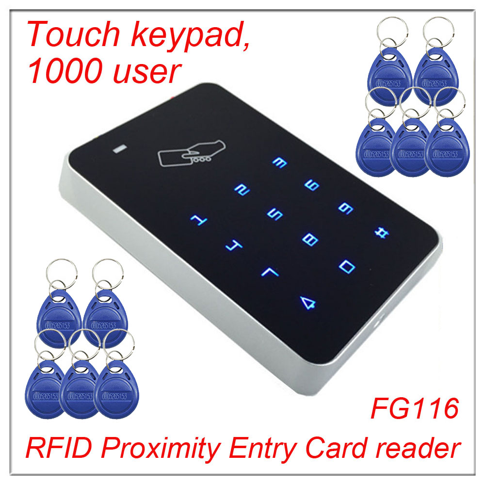 High security RFID Proximity Entry Touch keypad Door Lock Access Control System 1000 User +10 Keys wiegand 26 input wiegand 26 input
