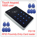 High security RFID Proximity Entry Touch keypad Door Lock Access Control System 1000 User +10 Keys wiegand 26 input