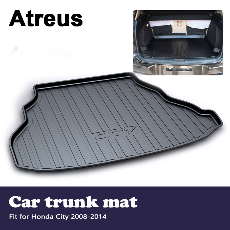 Atreus Car Accessories Waterproof Anti-slip Trunk Mat Tray Floor Carpet Pad For Honda City 2008 2009 2010 2011 2012 2013 2014 for hyundai tucson 2006 2007 2008 2009 2010 2011 2012 2013 2014 waterproof anti slip car trunk mat tray floor carpet pad
