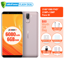 "Ulefone Puissance 3 6050 mAh Grosse Batterie Smartphone 6 GB + 64 GB 6.0 ""FHD + MTK MT6763 Octa base Android 8.1 Visage ID 4G mobile téléphone"