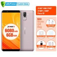 Ulefone Power 3 6080mAh Big Battery Smartphone 6GB 64GB 6 0 FHD MTK MT6763 Octa Core