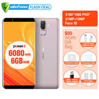 Ulefone Power 3 6080mAh Big Battery Smartphone 6GB+64GB 6.0 FHD+ MTK MT6763 Octa Core Android 7.1 Face ID 4G mobile phone