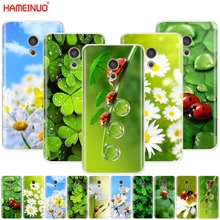 HAMEINUO four leaf ladybug daisy Cover phone Case for