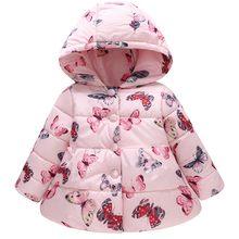 38dc5acd23108 MUQGEW Enfant Bébé Manteau fille Garçon vestes d hiver doudoune fille  Papillon Épaisse veste chaude À Capuchon manteau coupe-ven.