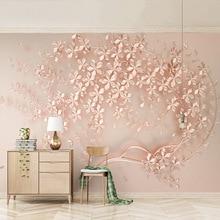 3D Wallpaper Modern Abstract Art Relief Rose Flowers Photo Wall