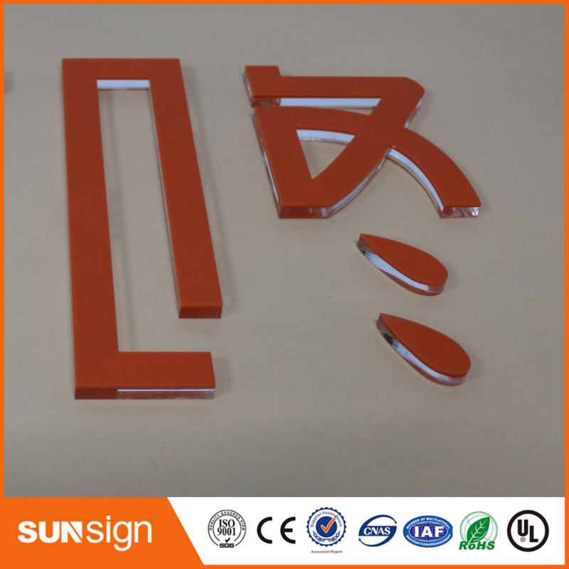 Sunsign Design Company Logo Clear Acrylic Sign Letters
