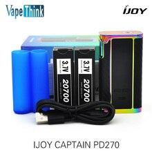 Оригинал IJOY Капитан 234 Вт PD270 TC Поле Mod электронная сигарета mod жидкостью vape комплект с аккумулятором 20700 Прошивка Обновляется