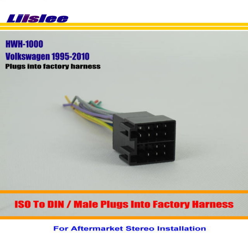 liislee car stereo radio iso wiring harness connector for. Black Bedroom Furniture Sets. Home Design Ideas