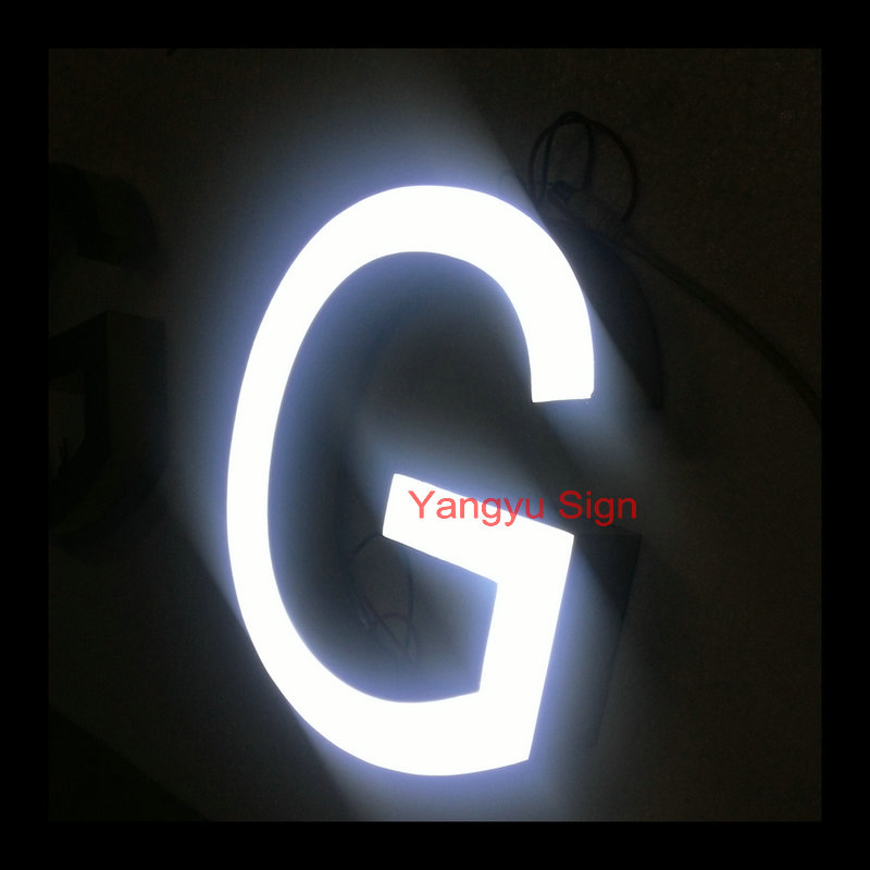 Led shop name sign board epoxy resin channel letter sign ...