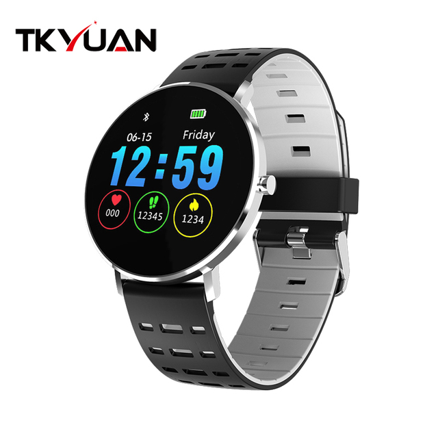 TKYUAN L6 new ultra-thin curved color screen smart watch heart rate information dynamic interface IP68 waterproof smart bracelet