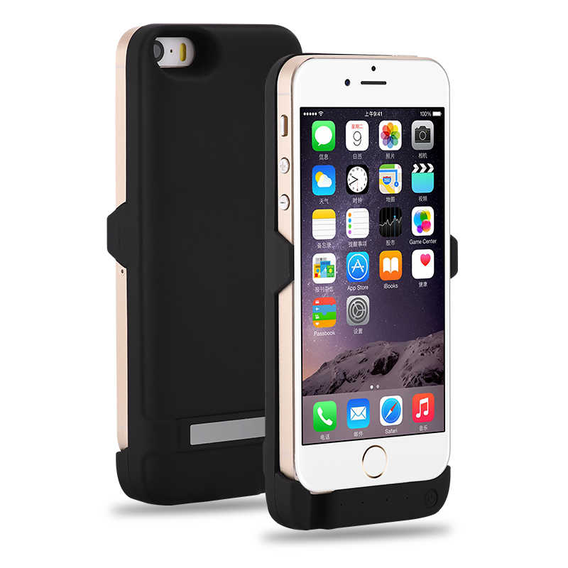 Goldfox 4200mAH Battery Charger Case Cover For iPhone 5 5S SE Cell Phone Rechargeable Battery Charge Power Bank Cases