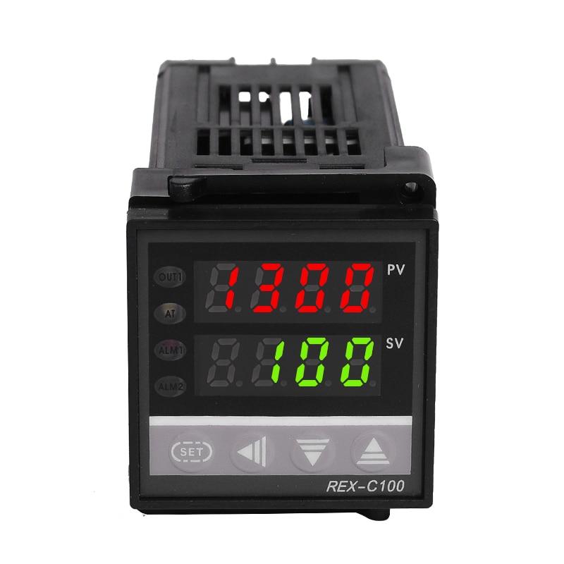 Set di controller regolatore termostato digitale PID REX-C100 con - Strumenti di misura - Fotografia 2