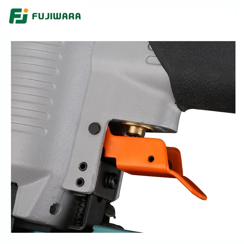Купить с кэшбэком FUJIWARA 3-in-1 Carpenter Pneumatic Nail Gun Woodworking Air Stapler F10-F50, T20-T50, 440K Nails Home DIY Carpentry Decoration