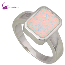 Garilina 2018 new Ring Fine Jewelry ring for Women Silver Filled White Fire Opal ring Gift size 5 6 7 8 9 R441