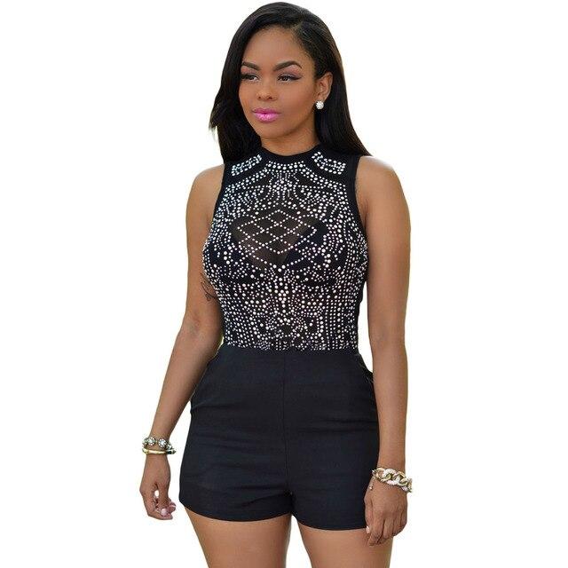 The Qixi Festival Valentine's black turtleneck sleeveless back zipper drilling high elastic open crotch clothes 32037