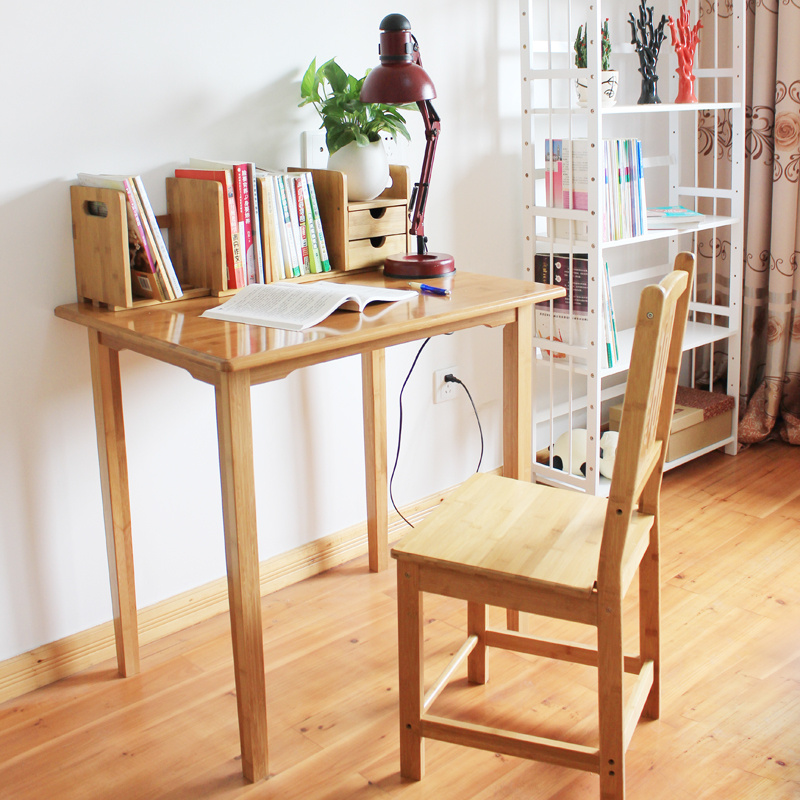 Phyllostachys pubescens Bamboo wood wood desk children's learning quality household desk the quality of accreditation standards for distance learning
