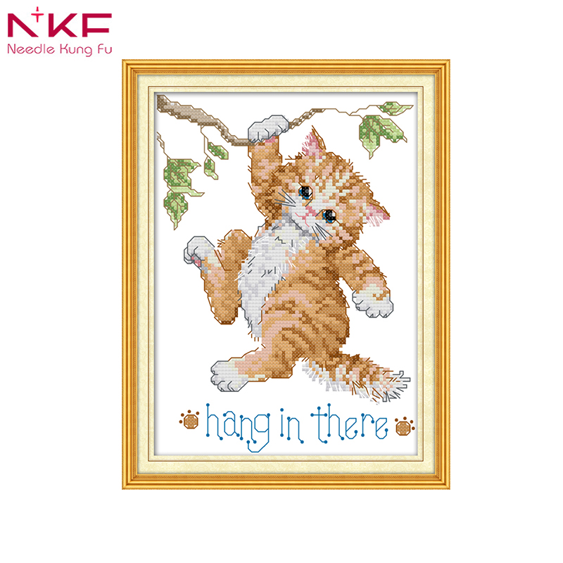 Arts,crafts & Sewing Patterns Clever 1top Quality Lovely Counted Cross Stitch Kit Snowed In Kitten Cat Bird Robbin Ornament Christmas Tree Ornaments Dim 0862 2019 Latest Style Online Sale 50%