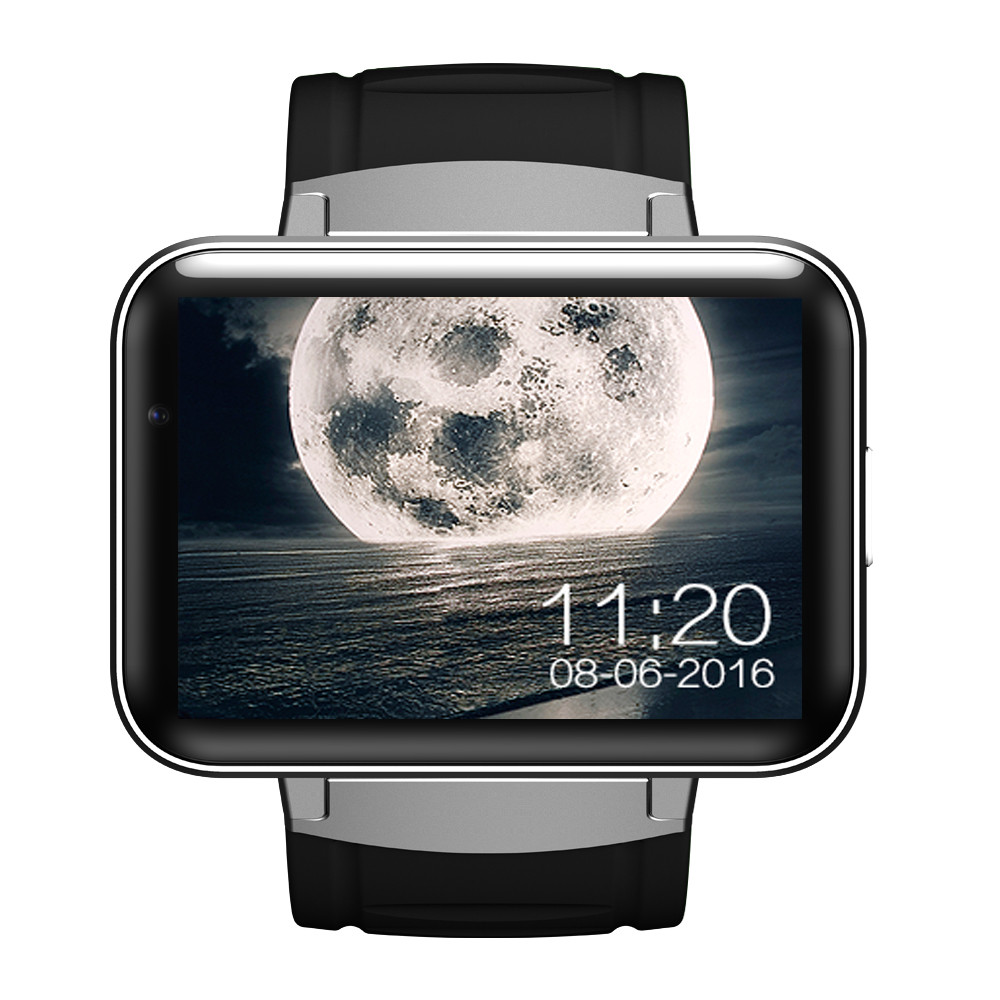 DM98 smart watch android 4.4 MTK6572 2.2 inch IPS HD battery 900mAh 512MB Ram 4GB Rom Android 3G WCDMA GPS WIFI smartwatch