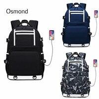 Osmond Man 15 inch Laptop Backpack USB Charging Computer Waterproof Backpacks Large Male Female Business Travel School Bagpack