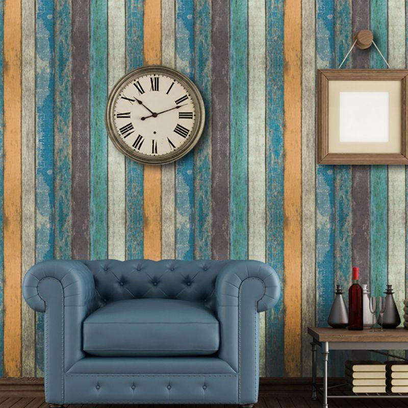 Hot Sale 45*100CM Vintage Wood Stripe Brick Wall Sticker DIY Home Decoration Self-adhesive Stone Des