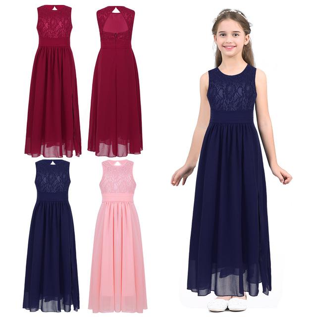 Chiffon Teenage Flower Girl Dresses