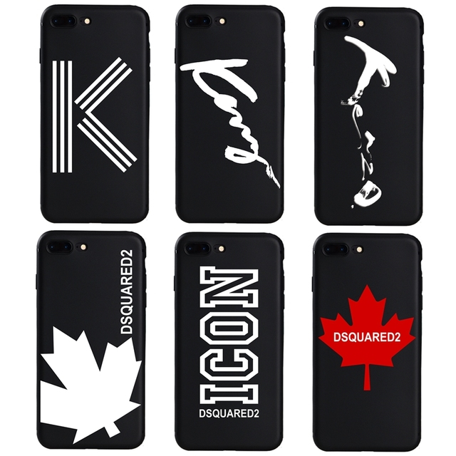 wholesale dealer 97246 7c418 US $0.78 54% OFF|Luxury Brand Italy DSQUARED DS2 France Paris soft case for  iphone 7 8 Plus 6 6s Plus X XS Max XR 5s SE Cover Coque Case-in Fitted ...