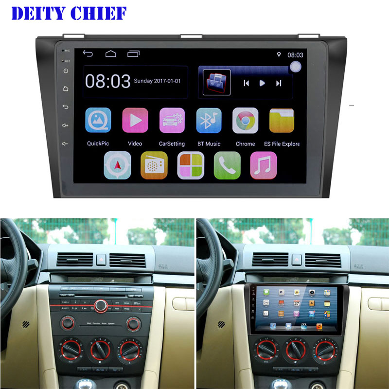 for MAZDA3 2004 2009 9inch Android Car radio multimedia player 2din 9 Quad Core GPS Navigation