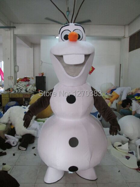 Adult Size Smiling Olaf Mascot Costume Cartoon Character Costume Free Shipping