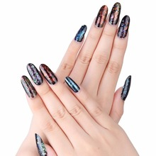 MAKARTT 500 Oval Nails Tips Round Full Cover Color Tips Long False Nail Art Tips Acrylic Fake Nails