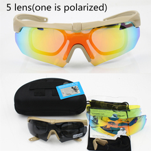 Polarized high quality sunglasses TR-90  military goggles,5lens bullet-proof Army Tactical glasses ,shooting eyewear
