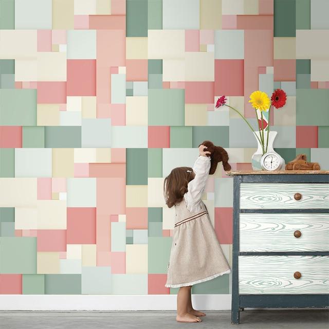 קיר קיר נייר אמנות טפטים אמנות גיאומטרית Tuya לקיר תפאורה בסלון חדר המיטה של ילד משלוח חינם הנחה