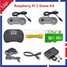 52Pi RetroPie Game Console Accessory Kit with 32GB SD Card and USB Controllers for Raspberry Pi, Not include Raspberry Pi Board