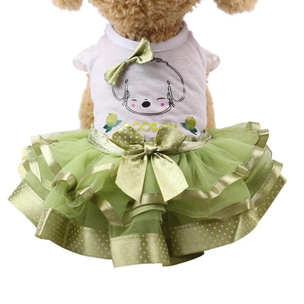 Новинка 2019 года; Лидер продаж полиэстер; повседневное дышащее платье с капюшоном и принтом фруктов; зеленое домашнее платье для домашних животных; #4A17