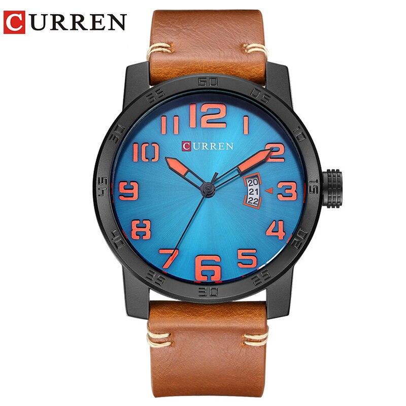 Curren 2017 männer uhren relogio masculino luxus military armbanduhren fashion casual quartzwatch wasserdicht kalender 8254