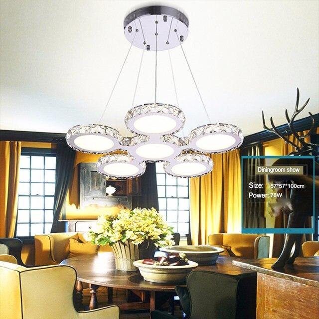 Jentinsun New Design Creative Shape 78W Modern Crystal Chandeliers Lamps  LED Dining Room Crystal Llighting Luxury Hanging Lights