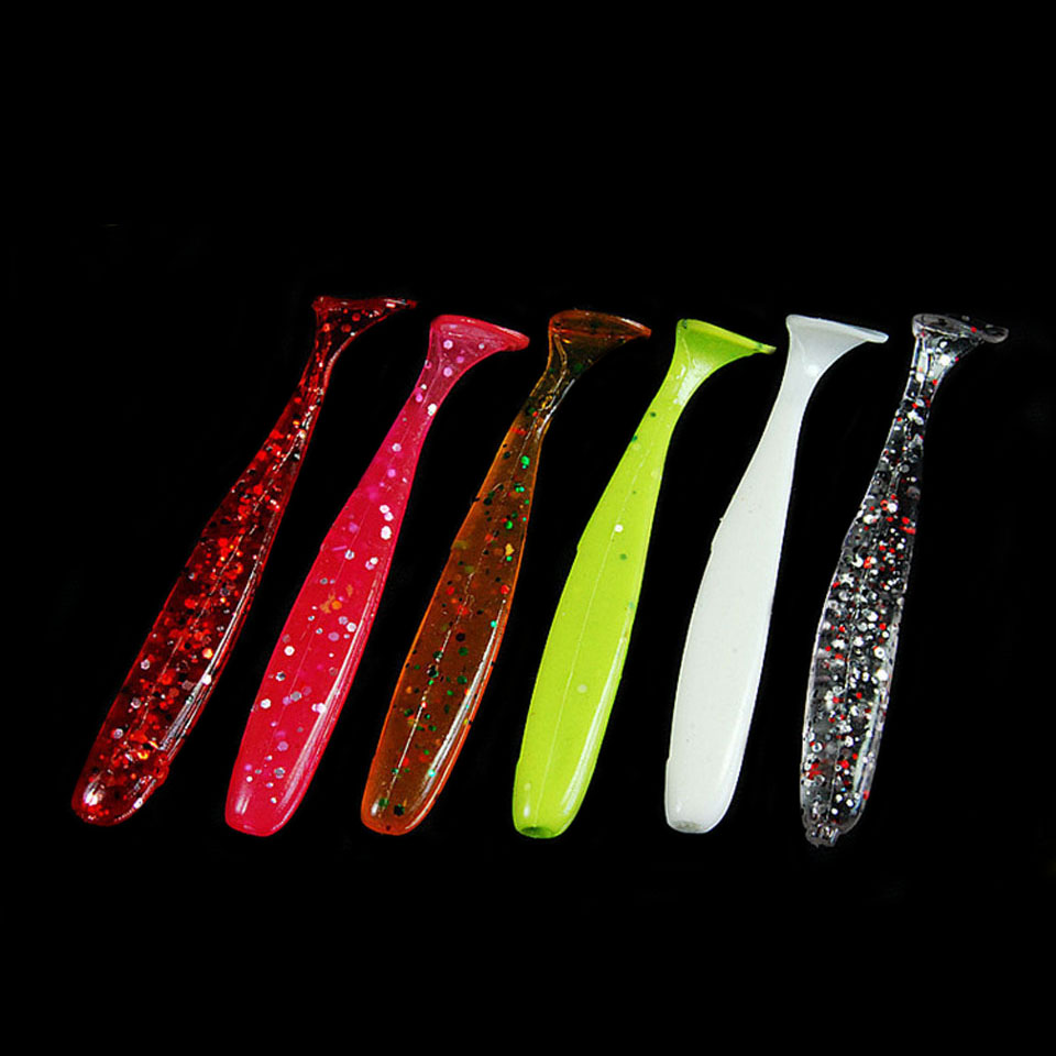 WALK FISH 8PCS/Lot T Shad 65mm Wobblers Silicon Lure Paddle Tail soft lure Jig Head T tail soft insects Fake Bait Texas Rig goture fishing lure silicone bonic soft bait 10 7g 8 4cm wobblers artificial bait red tail lead fish 5pcs lot