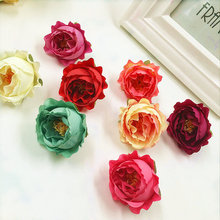 10 PCS (4 cm/a) simulation of artificial silk tea buds flower heads/things wreath of DIY gift box collage wedding decoration
